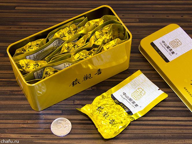 Желтая банка с тегуаньинем