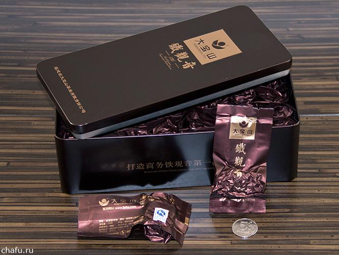 Упаковка тегуаньиня в коричневой банке