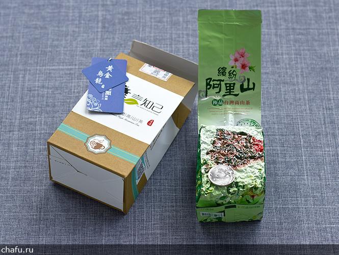 Упаковка тайваньского улуна алишань