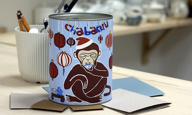 Чайная новогодняя открытка