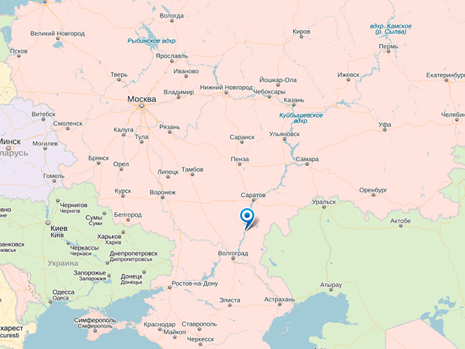 Камышин на карте