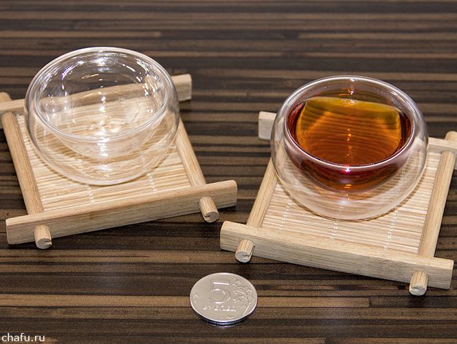Чашки со стеклянной колбой